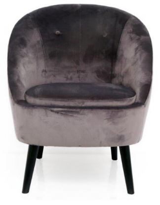 Charles Lounge Chair In Grey