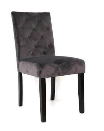Dining Chair Velvet Grey