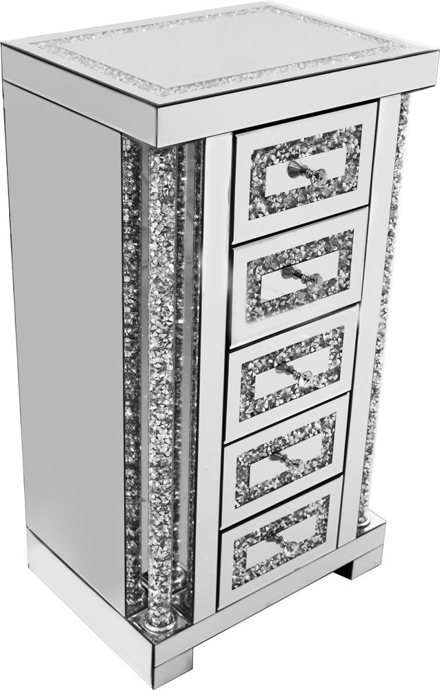 Falcon Crushed Stone Mirror Drawer Unit X5