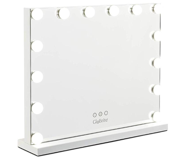 Hollywood Make Up Mirror 14 Bulbs White Stand