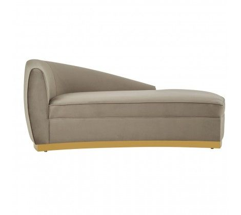 Tix Left Arm Chaise Longue Grey