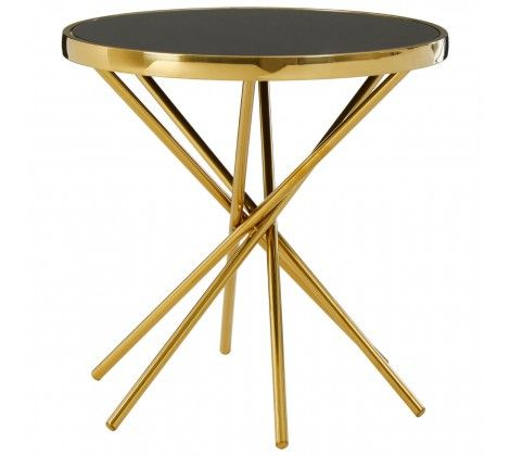 Tulare Abstract Base Round Side Table