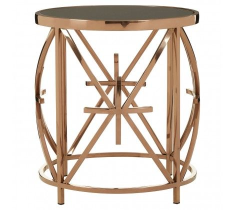 Tulare Round Star Side Table