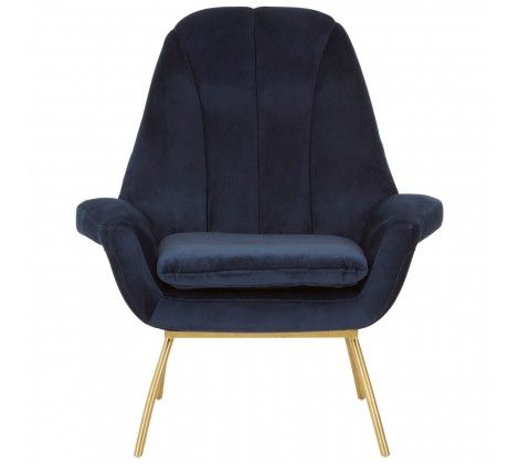 William Velvet Chair Blue
